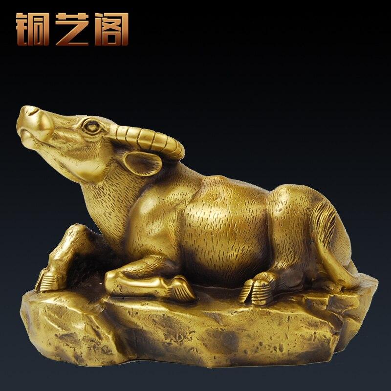 Yi Ge pure copper ornaments twelve bull ox Wangcai lucky jewelry shop Home Furnishing Zhen Feng ShuiYi Ge pure copper ornaments twelve bull ox Wangcai lucky jewelry shop Home Furnishing Zhen Feng Shui