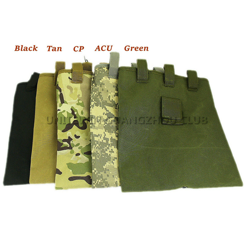 Tactical Army Mag Dump Pouch Airsoft Paintball Military Recovery Molle Magazine Pouch Hunting Slingshot Ammo Bags Dump Drop Bag