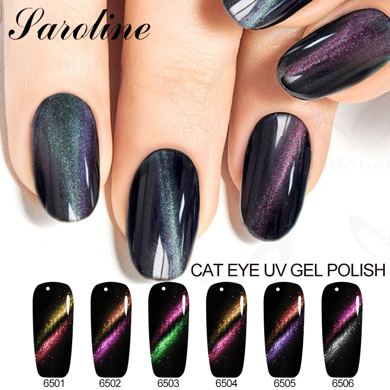 Saroline 5D Cat Eyes Colorful Nail Gel Polish Semi Permanent