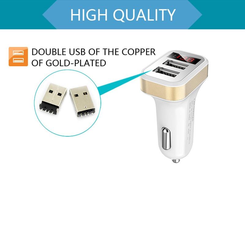 Mini Car-Charger Adapter 3 Port 12V-dən 5V Bluetooth 3.1A USB Car - Avtomobil elektronikası - Fotoqrafiya 3