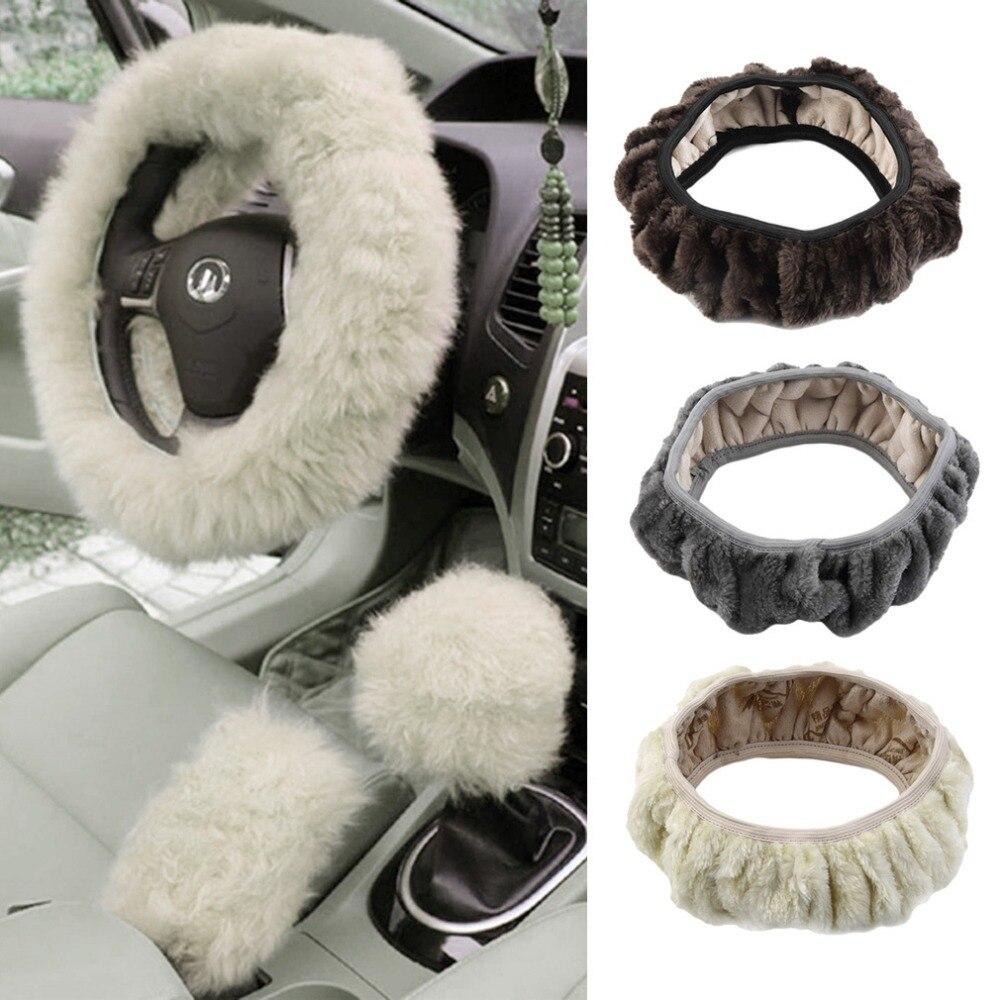 teering Wheel Cover Winter Plush Steering Wheel Cover Winter Steering Wheel Cover Artificial Wool Heated S