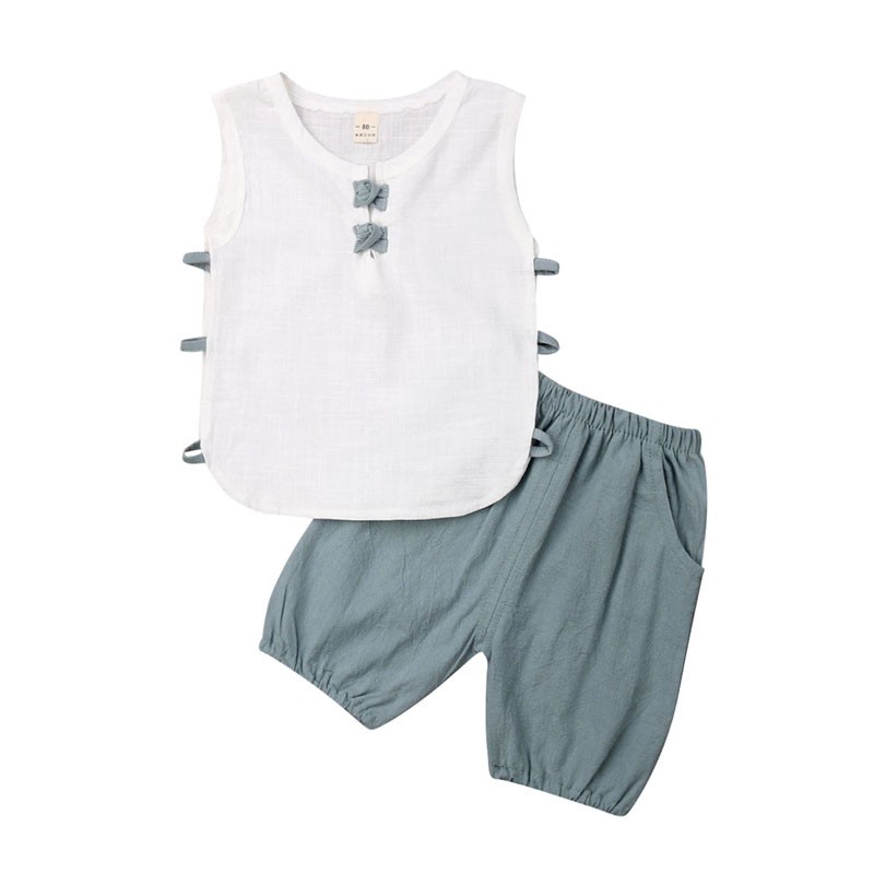 Glorious Focusnorm Summer Holiday Toddler Baby Boy Vest T-shirt Top+shorts Outfit Set Clothes Us Skillful Manufacture