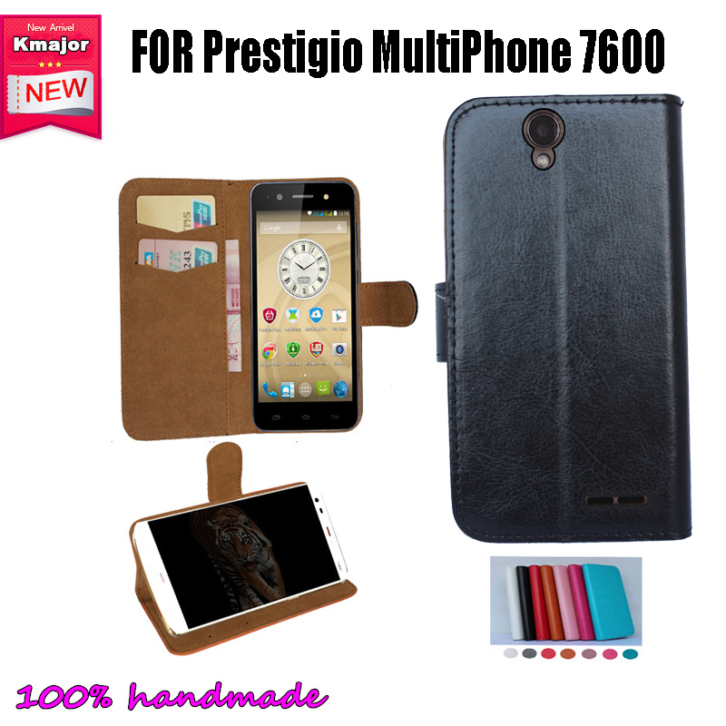 Hot Sale! Flip Leather <font><b>Smartphone</b></font> Cover Case For Prestigio MultiPhone 7600 DUO <font><b>Pouch</b></font> Cover Card Slots Wallet 7 Colors
