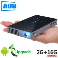 Аун смарт проектор, D5S, Android 7,1 (Optiona 2 г + 16 г) WI FI, Bluetooth, HDMI, домашний Театр мини проектор (дополнительно D5 белый)