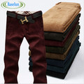 "Men's Straight Trousers Casual Thick Corduroy Autumn/Winter Pants Waist 28""-38"""