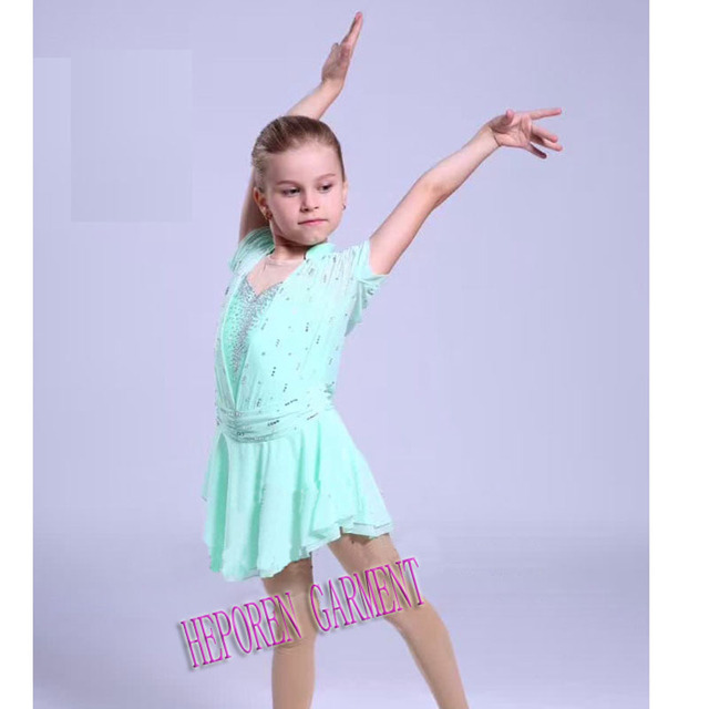 Customized Sky Blue Ice Skating Dress In Gymnastics For Kids,Girl Diamond Speed Skating Suit Ice Skating Dresses China