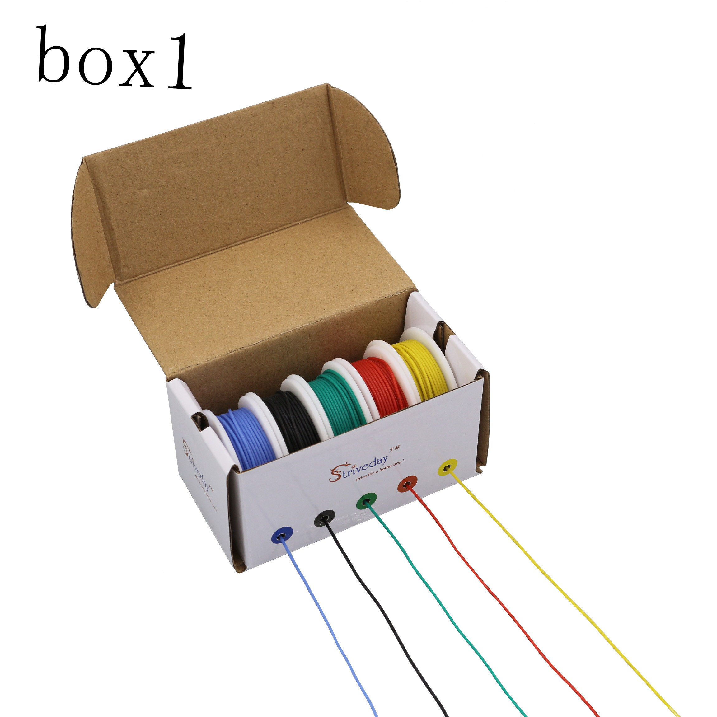 30m 20AWG Flexible Silicone Wire Cable 5 color Mix box 1 box 2 package Electrical Wire Line Copper30m 20AWG Flexible Silicone Wire Cable 5 color Mix box 1 box 2 package Electrical Wire Line Copper