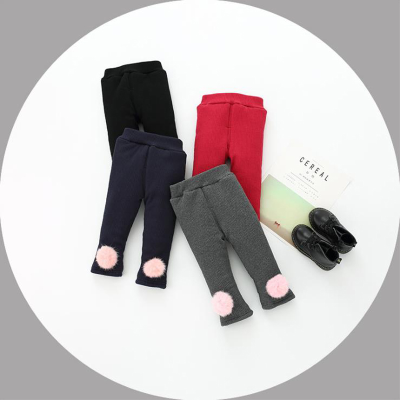 Kid Girl Baby WINTER Warm Thermal Coral Fleece Bottoms Tights Leggings Stockings