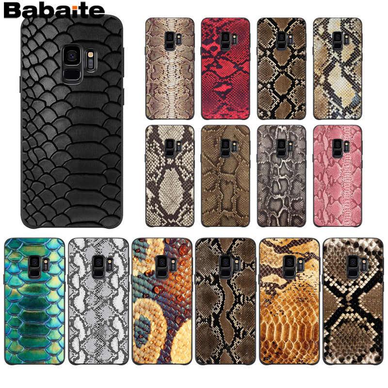 Babaite נחש עור אמנות DIY יוקרה גבוהה סוף מגן מקרה סמסונג S9 S9 בתוספת S5 S6 S6edge S6plus S7 s7edge S8 S8plus M10 20
