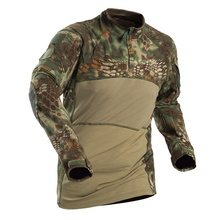 Outdoor Men Tactical Shirts Military Hunting Army Long Sleeve T-shirt Shooting Camo Hiking Camouflage Army Combat Shirt Clothing outdoor cs wargame camouflage t shirt men long sleeve hunting tactical military army uniform hiking breathable military shirts