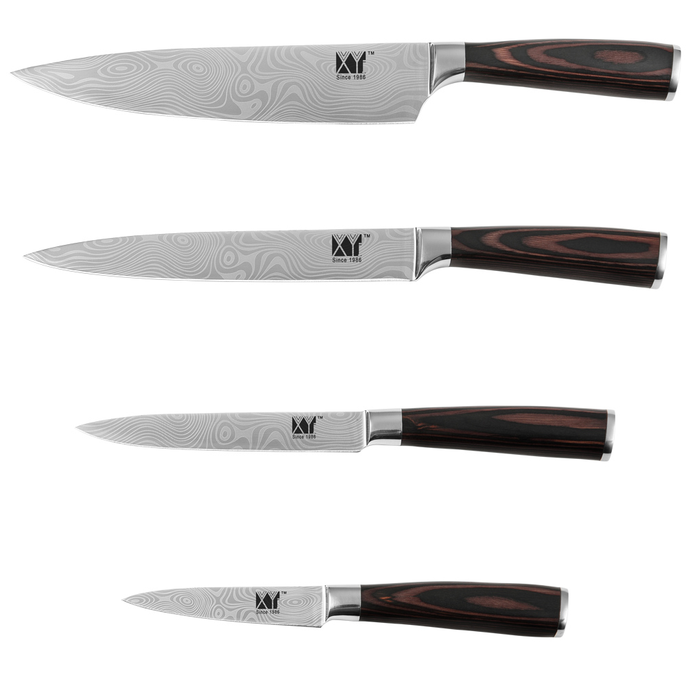 "Quality Kitchen Knives: High Quality Kitchen Knives 8"" Chef 8"" Slicing 5"" Utility"
