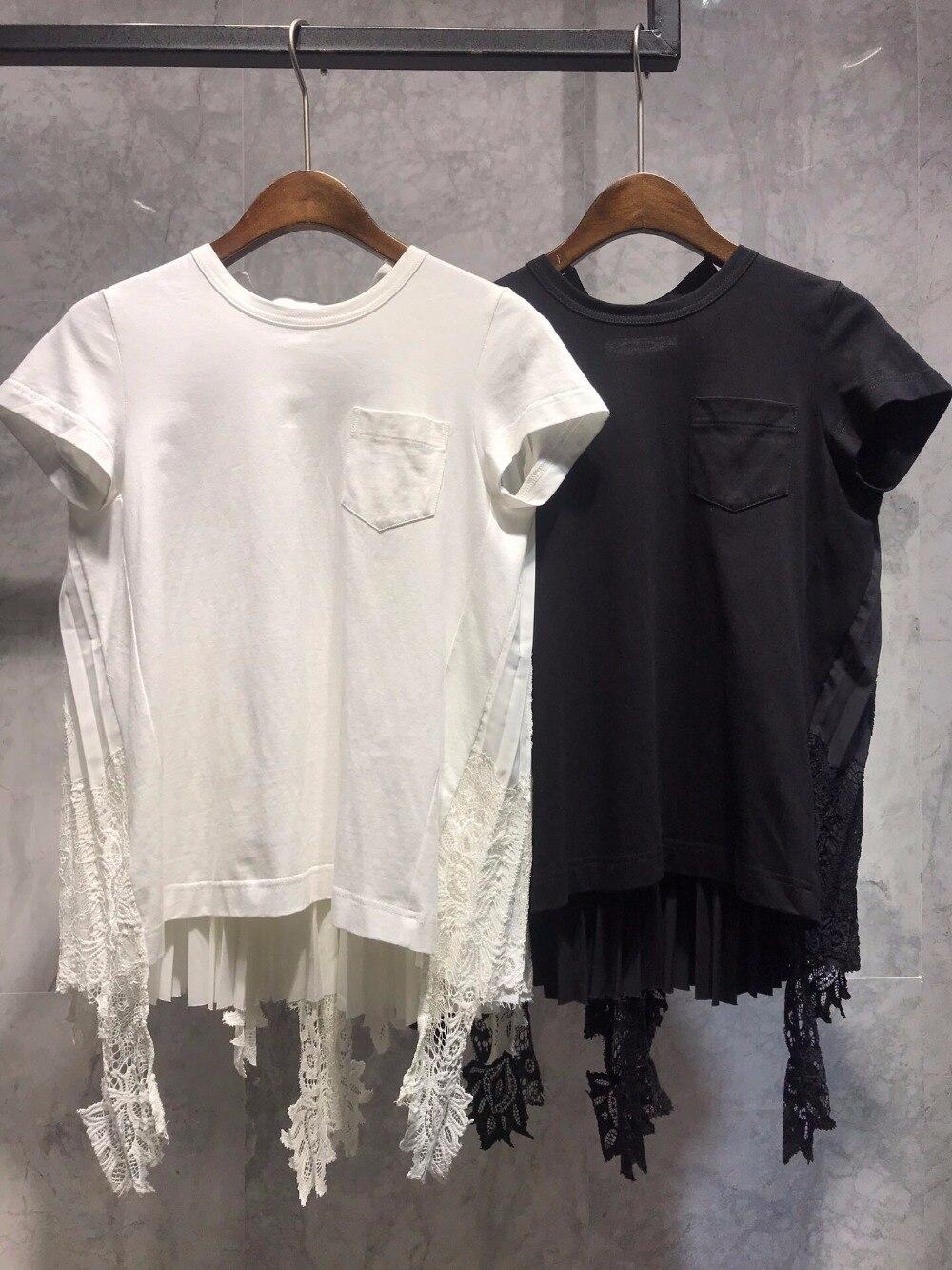 Dentelle 2 Femmes Casual Patchwork D'été 2019 T Couleur Tee Ddxgz3 Nouvelles shirt zAwxtqpaq