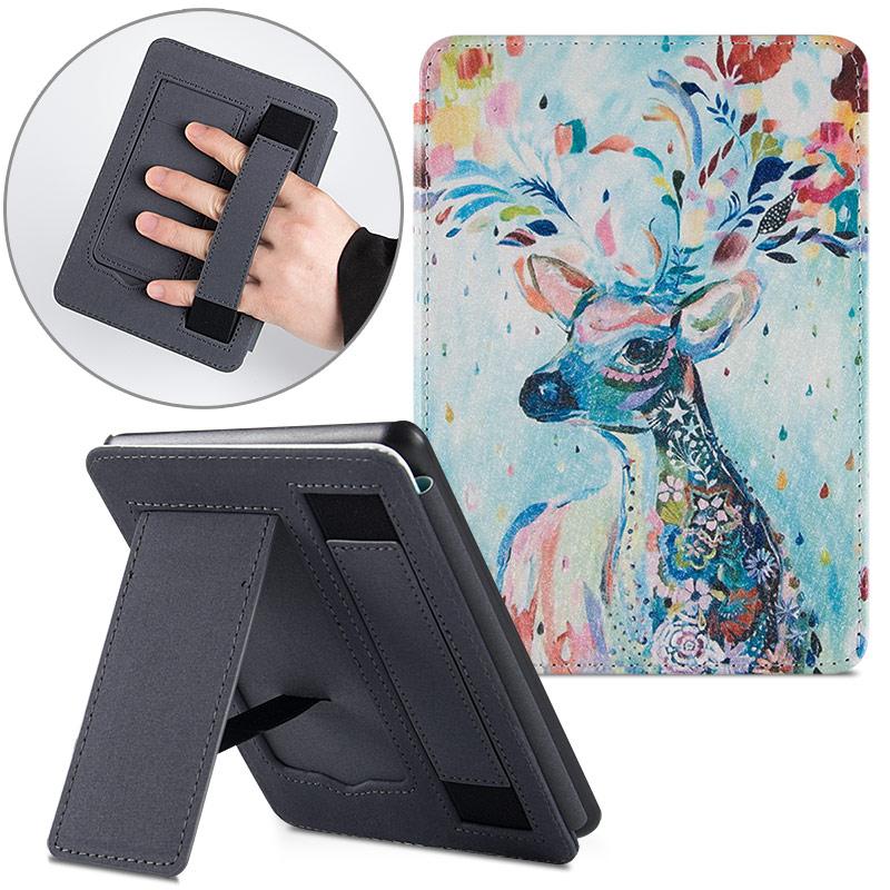 AROITA Smart Cover For New Kindle Paperwhite 4 (10th Generation-2018 Release) E-Books, Handheld Stand Portable PU Leather Case