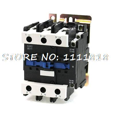 220V Rated Coil Voltage 3 Phase 1NO+1NC CJX2-9511 Alernating Current Contactor sayoon dc 12v contactor czwt150a contactor with switching phase small volume large load capacity long service life