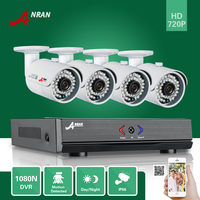 4CH 720P Surveillance DVR NVR AHD KIT Outdoor Security Camera Home CCTV System