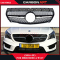 replacement body kit diamond look black color abs front tuning grill for mercedes W117 cla180 cla 200 cla260 cla300 2013 2014 +