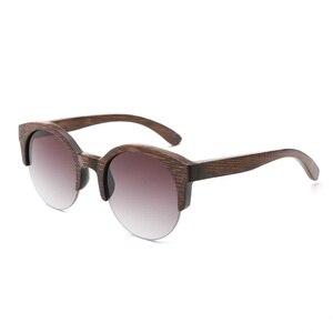 Image 2 - BerWer Marrone Colore di Bambù Occhiali Da Sole Da Uomo occhiali Da Sole di Legno Delle Donne di Marca di Occhiali In Legno Oculos de sol masculino