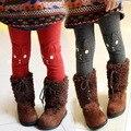 2017 New Winter Children's Clothing Baby Girls Thick Velvet Leggings Children Cotton Trousers Rabbit Trousers For Girls Jeans