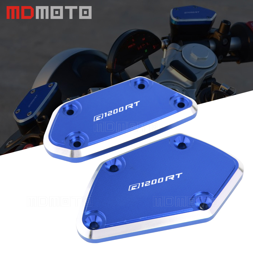 R1200RT 2017 Motorcycle CNC Aluminum Front Brake & Clutch Reservoir Fluid Tank Cap Cover For BMW R1200RT R120 RT 2014-2017 for ktm 690 duke smc r 2014 2015 2016 motorcycle front brake clutch master cylinder fluid reservoir cover cap