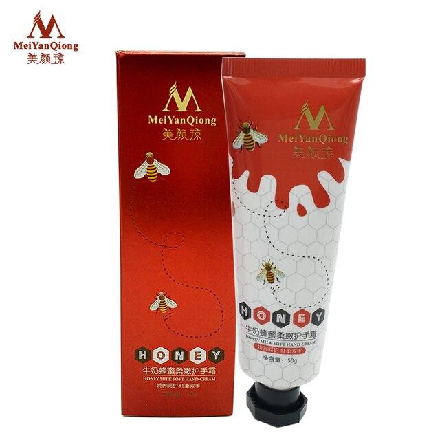 Milk Honey Repair Hand Cream Moisturizing Anti-Aging Skin Whitening Hand Cream Skincare Nourishing crema de manos Winter 4