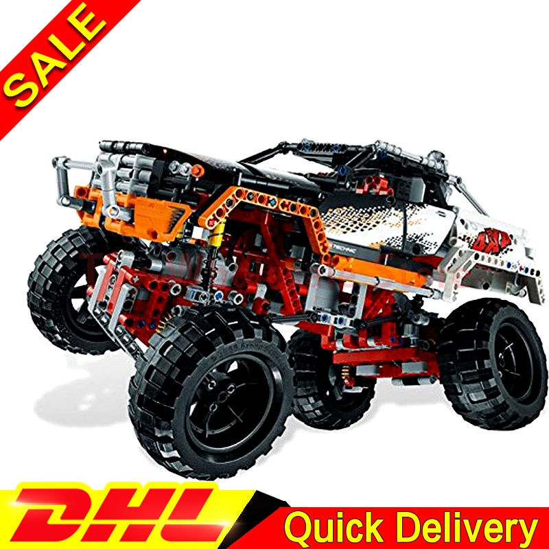 Lepin 20014 Technic Series Ultimate Version The Remote-Control Four-Wheel Drive Off-road Vehicles Blocks lepins Toys Clone 9398 advanced intelligent vehicles control