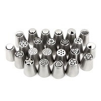 23Pcs/Lot New Arrivals Stainless Steel Cake Tools Form For Baking Silicone Molds Stands Nozzle Piping Spray Decoration Cakes