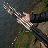 2.1/2.4/2.7/3m 2 consigli forte carbonio jigging rod XH spinning traina canna da pesca 4 sezioni della bobina di metallo sedile duro oceano canne da barca