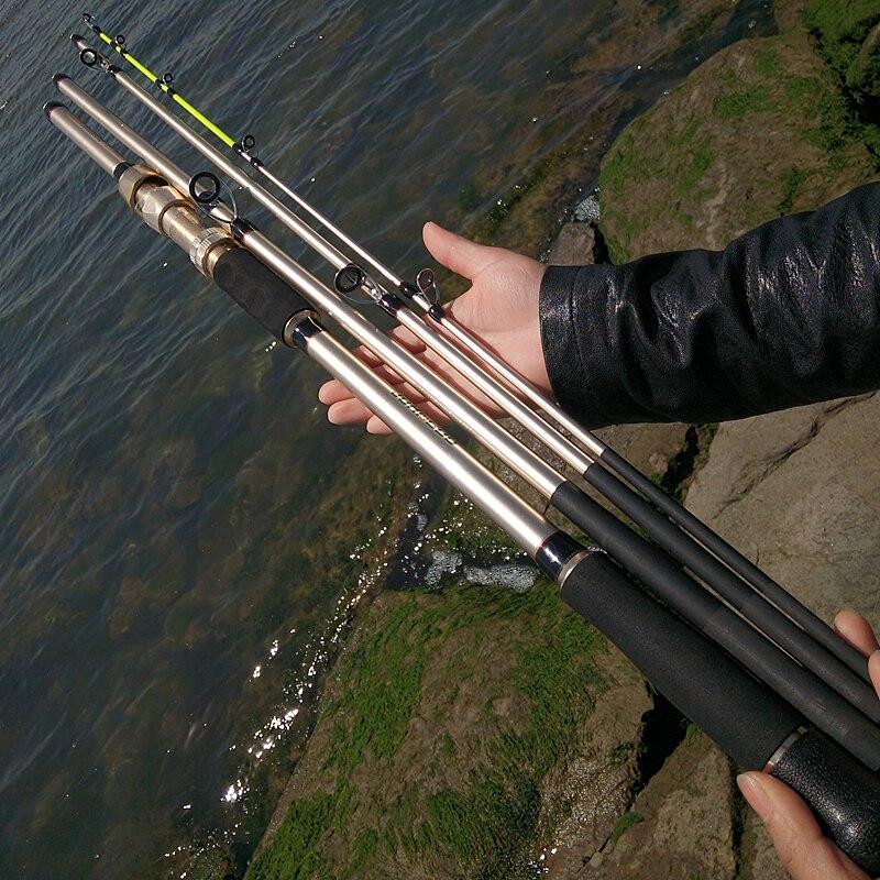 Seções de Carbono Pontas Duplas 4 Jigging Haste Fiação Carretel Metal Assento Pesca Duro Oceano Barco Jogando 2.1 – 2.4 2.7 3m