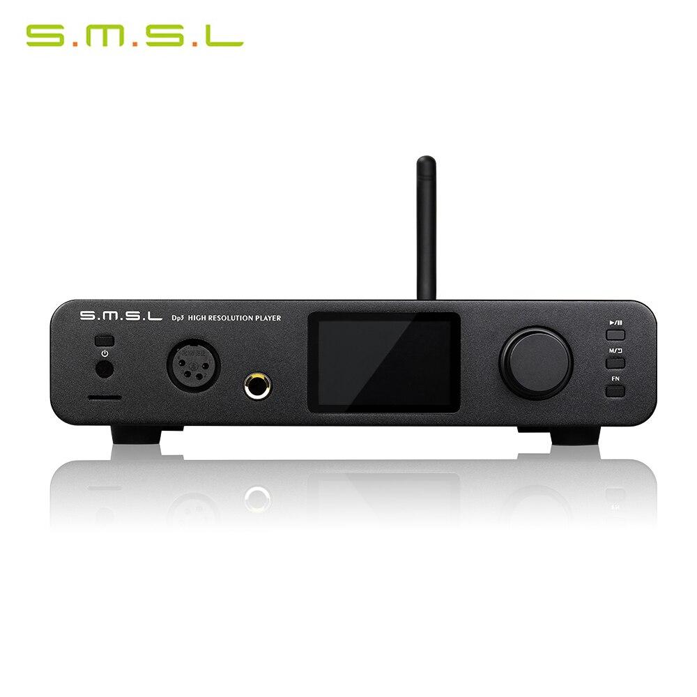S.M.S.L DP3 reproductor de Audio Digital de alta resolución DAC amplificador de auriculares incorporado PCM 32bit/384kHz DSD 256 con Control remoto