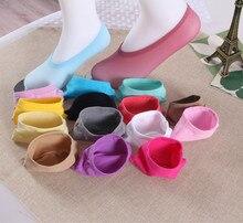Free Shipping 20pcs=10 pairs/lot Bamboo Fiber cotton Anti-Slip female ankle socks Summer invisible boat socks women anti slip
