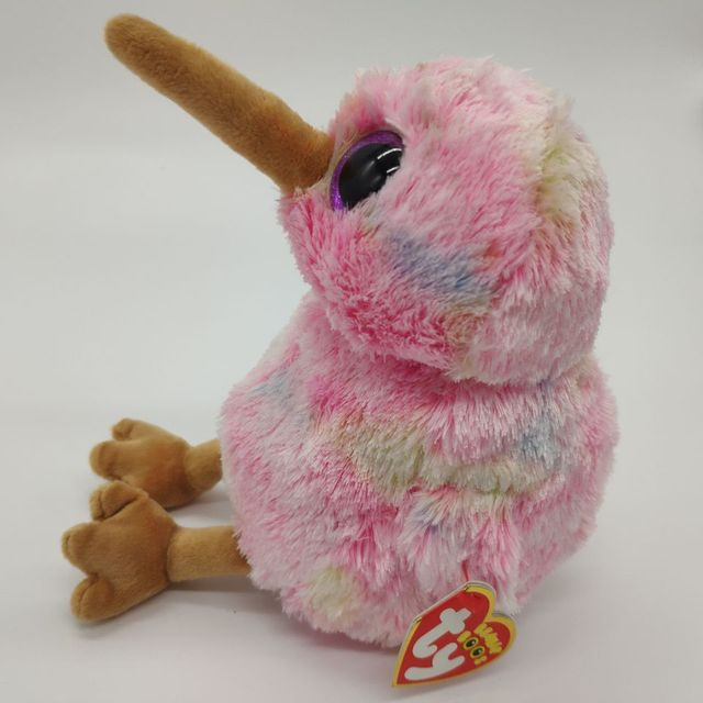 kiwi bird with tag label TY BEANIE BOOS COLLECTION 15CM 6