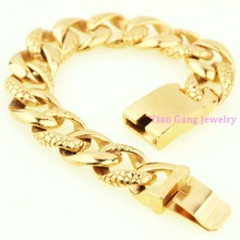 Fashion Jewelry Gift Stainless Steel Bracelets Silver Gold Black Tone Curb Cuban Chain Men Bracelet Jewelry