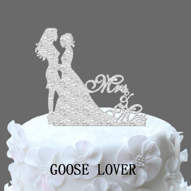 Mrs And Mrs Cake Topper Personalize Wedding Cake Topper Same Sex