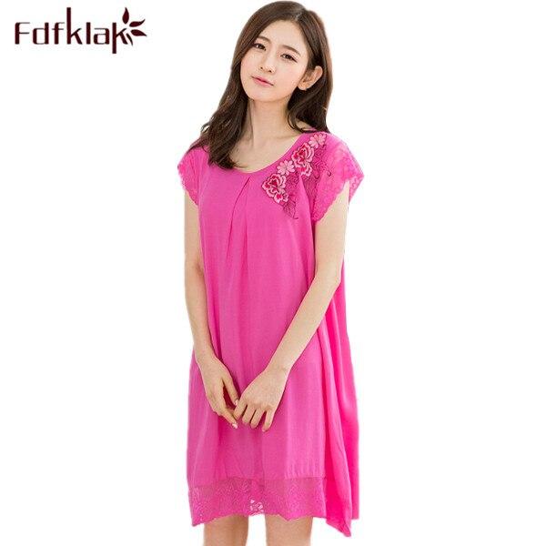 ca5334a41e8d Princess Nightgown Women Summer Dress Sexy Nightdress Women Nightwear Dress  Sleeveless Rose Red Shrimp Blue Nightgowns Q320