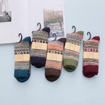 Winter Thick Warm Stripe Wool Socks Casual Calcetines Hombre Sock Business Male Socks Drop Shipping sock