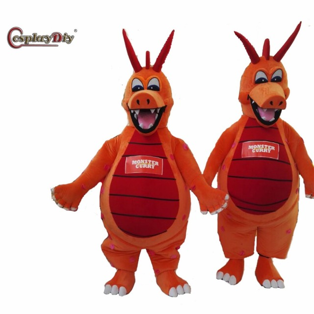 CosplayDiy Mascot Costume Monster Curry Dragon Cartoon Mascot Unisex Halloween Christmas Party Costumes Mascot Custom Made