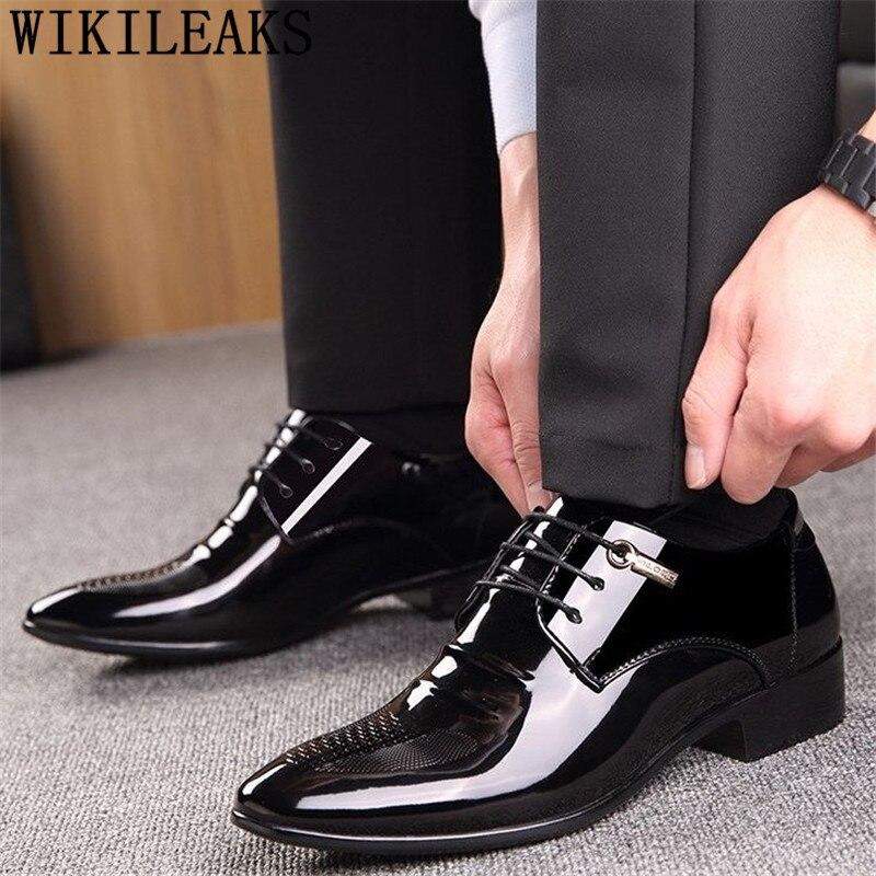Preto designer formal oxford sapatos para homens sapatos de casamento couro itália apontou toe dos homens vestido sapatos 2019 sapato oxford masculino
