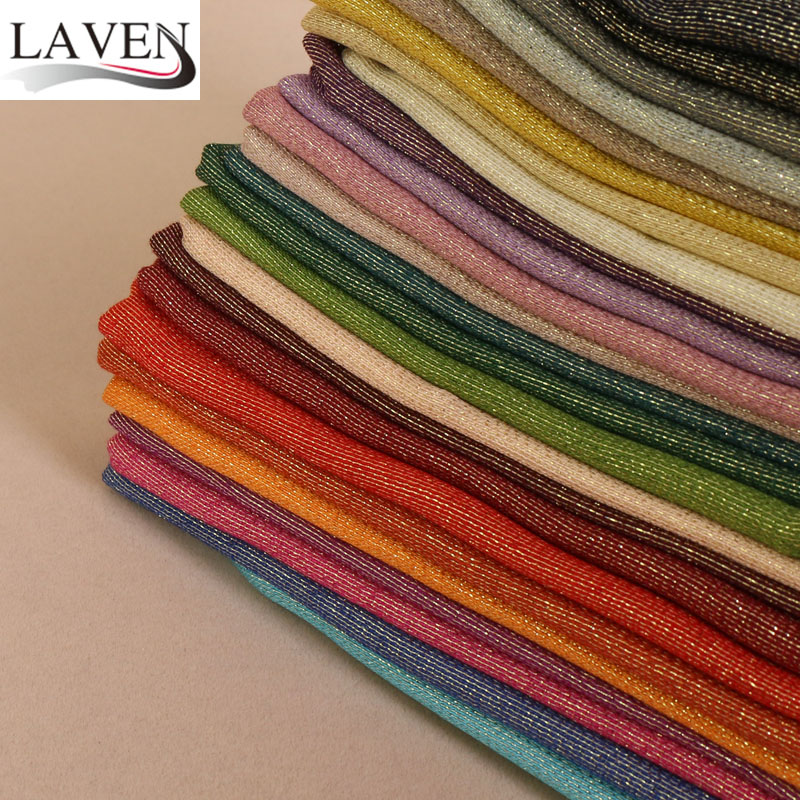 High quality women cotton glitter gold lurex plain shimmer shawls hijab spring muslim long scarves/scarf 26 color 180*70cm