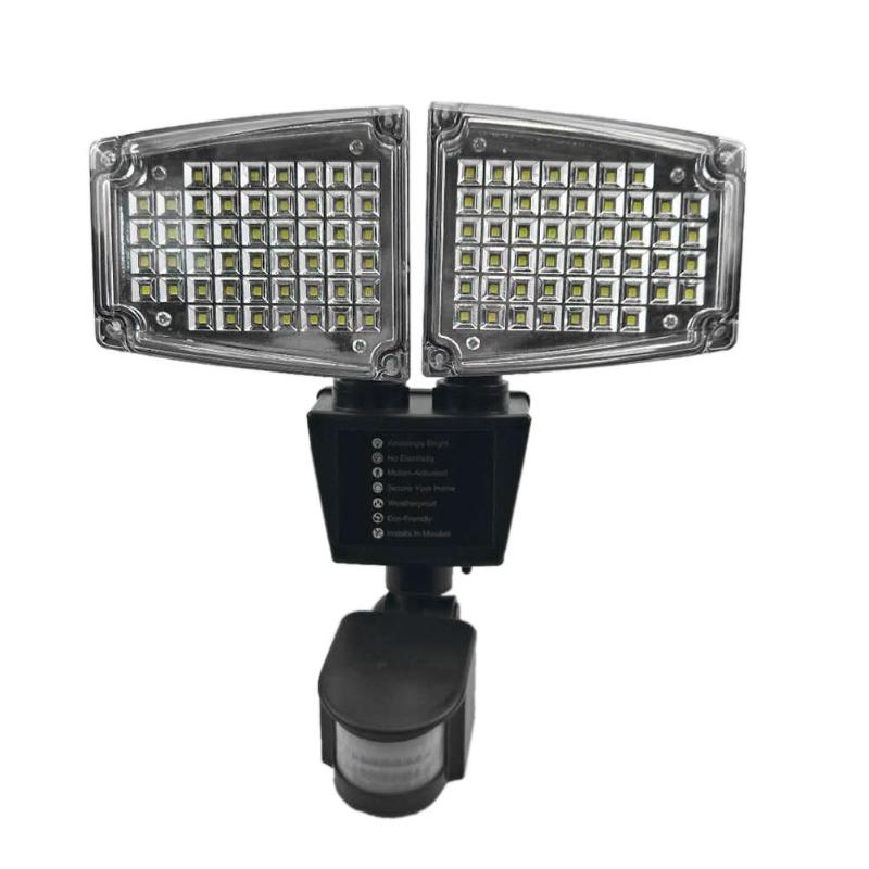 100 LED Solar Light Outdoor Body Motion Sensor Wall Light Garden Yard Spotlights LED 180 Degrees