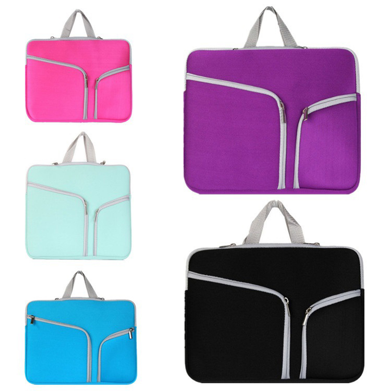 Waterproof Neoprene Laptop Notebook Liner Sleeve Case Computer Bag For 10 To 17 Inch IPAD Macbook Pro Air Retina Tablet Handbag
