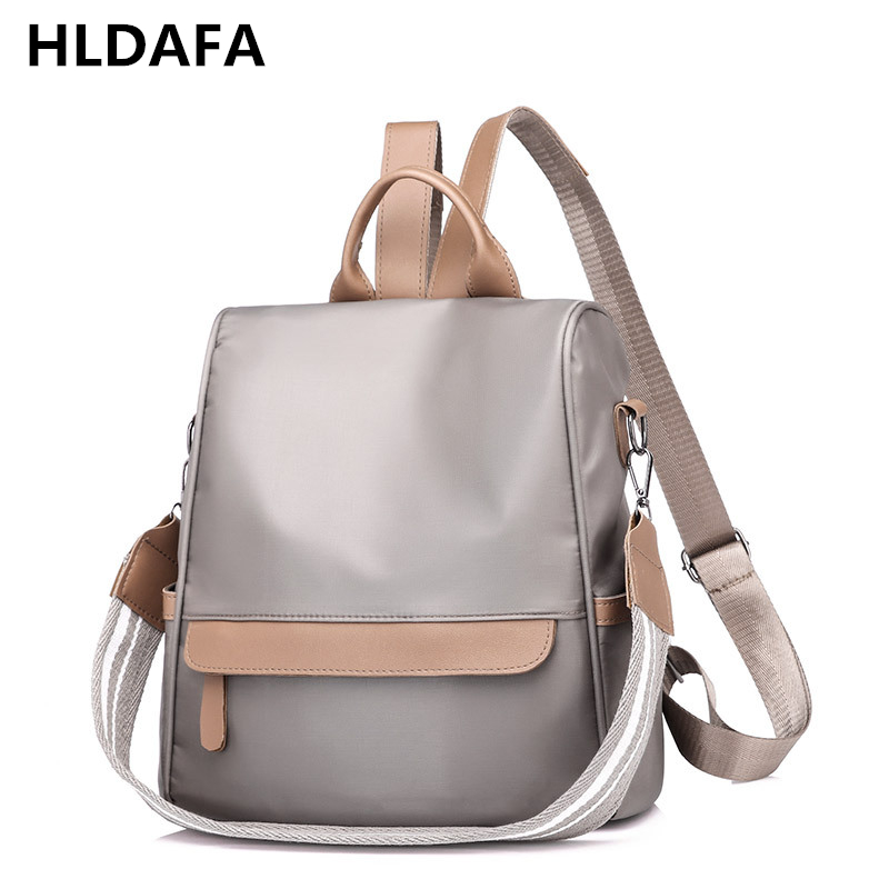 Luggage & Bags Efficient Hldafa Fashion Large Capacity Backpack Women School Bags For Teenagers Female Nylon Travel Bags Waterproof Three Ways Mochilas Evident Effect