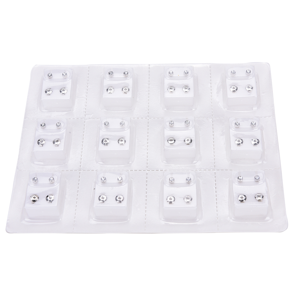 12 Pairs Silver Alloy Disposable Safe Ear Stud Piercing Gun Piercer Tool Earring Piercing Fashion Jewelry Silver Color