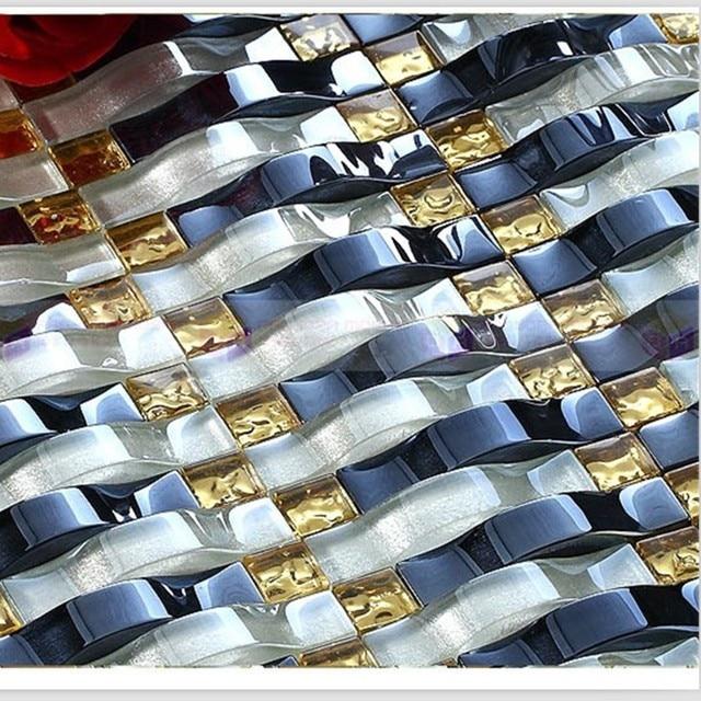 Beautiful Extra Dicke Stereo Gewölbte Kristallglas Mosaik Fliesen Innen Dekorieren TV  Hintergrund Wohnraum Veranda Wand Fliesen Multi