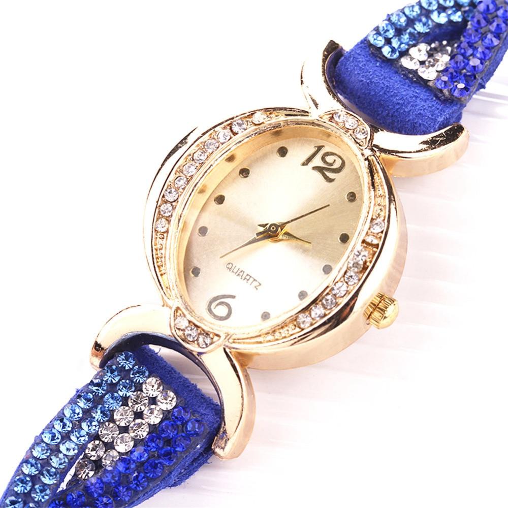51aad60989fa5 Montres Femme 2018 Bracelet en or cristal de luxe Montre Femme Bayan Kol  Saati montres femmes horloge heure dans Montres femmes de Montres sur ...