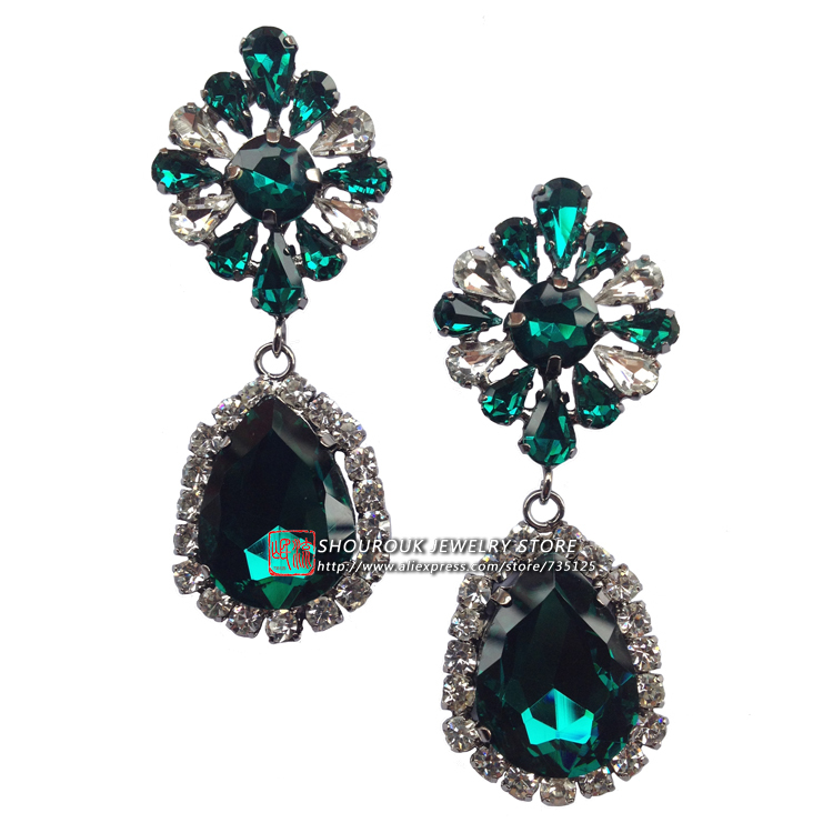 New 2015 high quality women fashion earring shourouk style all crystal earring design statement shourouk Earrings wholesale