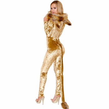 Deluxe Lion Costume Halloween animal cosplay costume Jumpsuits Set women adult cos animal costume Body Suit p m s hacker the intellectual powers a study of human nature