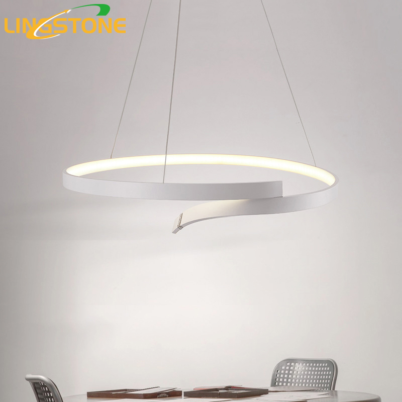 Modern Led Pendant Light Round Hanging Lamp Kitchen Pendant Lamp Nordic Light Fixture Living Room Lamp Dining Room Decoration nordic modern 10 arm pendant light creative led hanging lamps tube rod toolery for living room dining room lamp home decoration