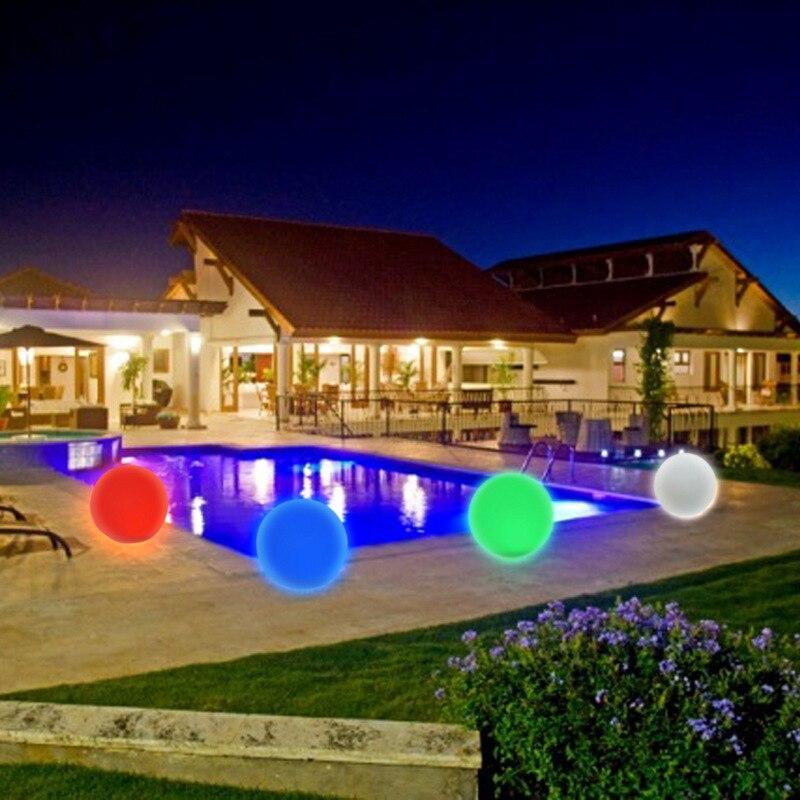 Waterproof Lamp Luz LED Solar Powered Ball Lantern Light Outdoor Garden Pool Lighting Energy Saving Motion Sensor Garland Decor
