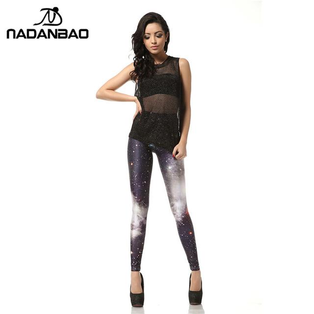 NADANBAO Brand New 3D Digital Black White Galaxy Legins Fashion Slim Sexy Leggins Printed Women  Leggings Woman Pants