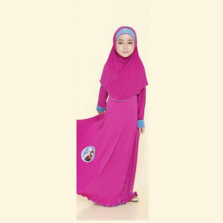 Image 2 - tonlinker ramadan Traditional Kids clothing Fashion Child baya  Muslim Girl dress abaya islamic big girl Children 3pcs CosplayGirls  Costumes